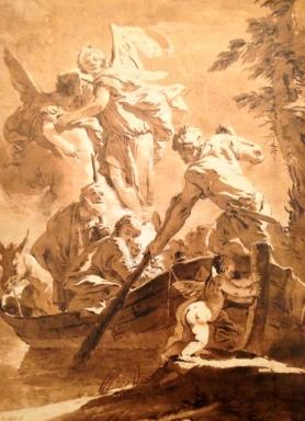 Giambattista Tiebolo, Fuga in Egitto