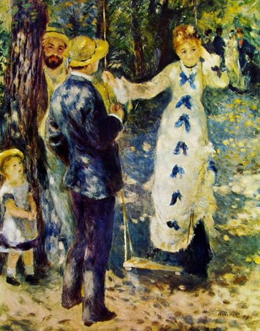 Pierre Auguste Renoir L'altalena