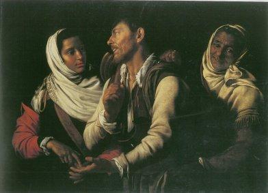 Simon Vouet, La buona ventura, Barberini