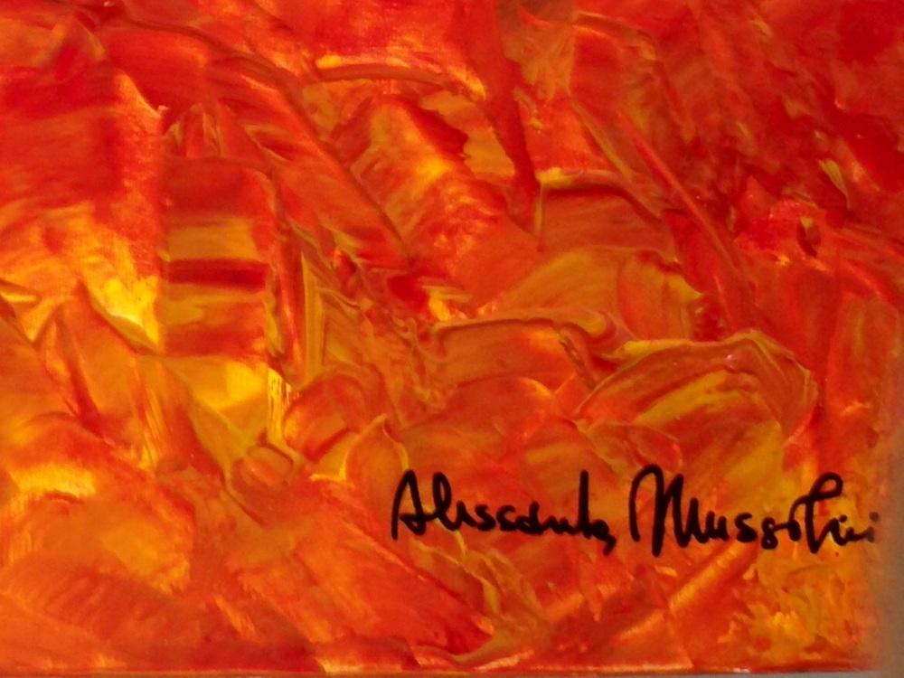 Dipinti senza pregiudizi. La mostra personale di Alessandra Mussolini. (3/6)