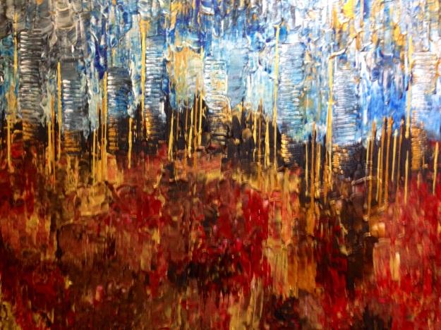 """""""Graffi di colori caldi e freddi"""" di Alessandra Mussolini. Foto Safarik Art Magazine"""