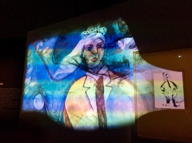 Mostra Chagall, Love and Life, a Roma al Chiostro del Bramante, installazione interattiva. Foto Safarik Art Magazine