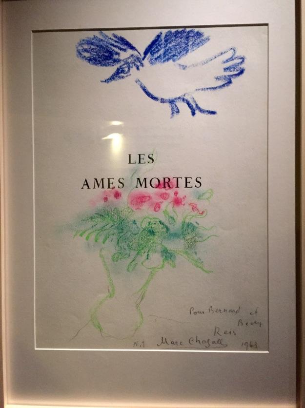 Marc Chagall, Frontespizio per Les Ames Mortes (Le anime Morte di N. Gogol). Foto Safarik Art Magazine