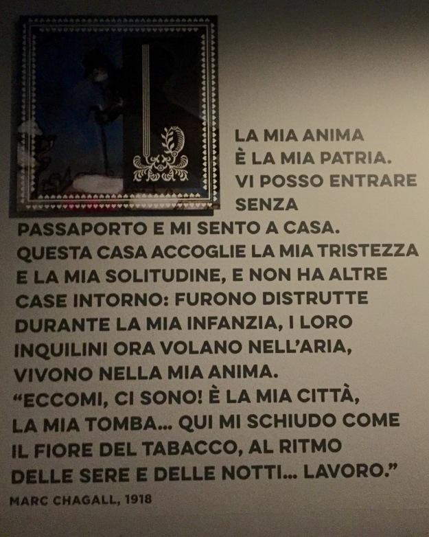 Mostra Chagall, Love and Life, a Roma al Chiostro del Bramante. La mia anima è la mia patria