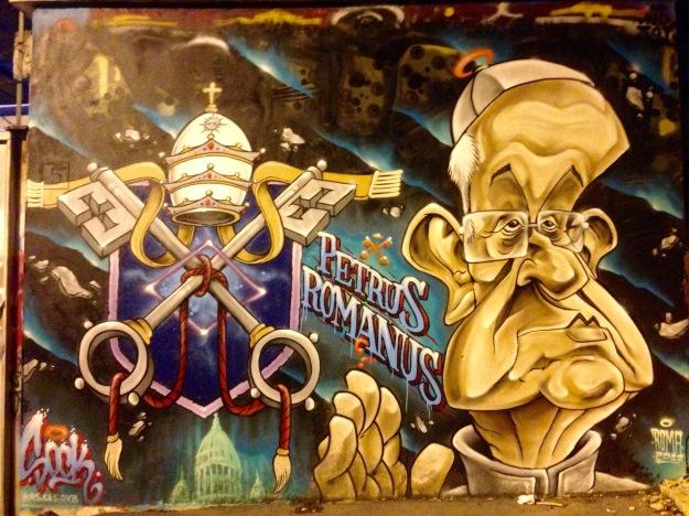 Petrus Romanus. Roma, Metro Cipro. Murales - Street Art. Foto Safarik Art Magazine