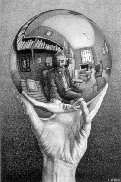 Escher, Sfera (Autoritratto)