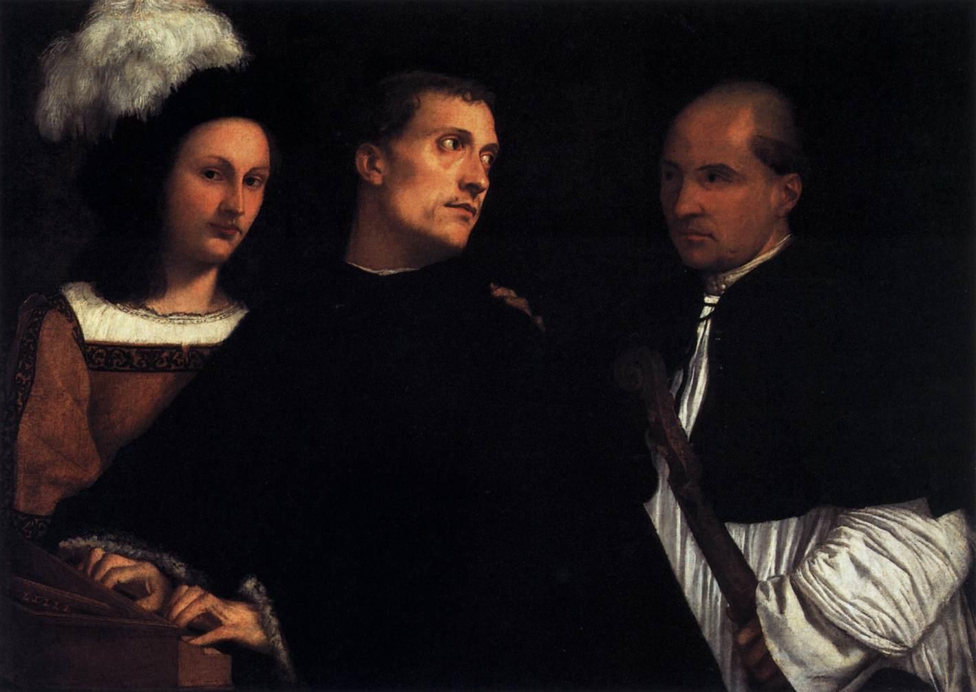 Tiziano, Il Concerto interrotto, è un dipinto a olio su tela (86,5x123,5 cm), 1507-1508 circa, Firenze, Galleria Palatina