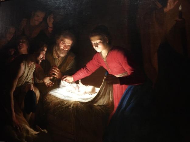 Gerrit van Honthorst, Adorazione dei pastori, olio su tela, cm. 169,2x211,8, Germania, collezione privata, 1616-17. Mostra Gherardo delle Notti agli Uffizi di Firenze. Foto Safarik Art Magazine
