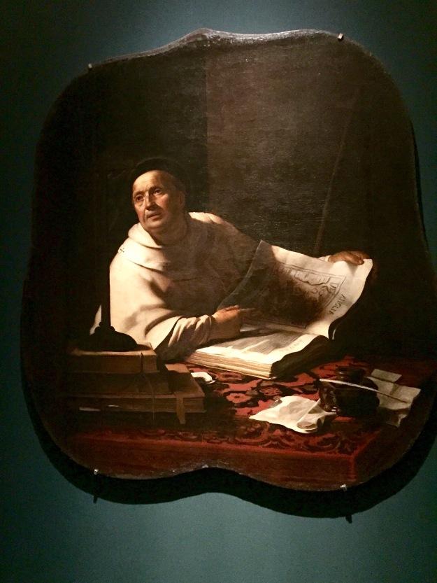 Gerrit van Honthorst, Sant'Agostino di Canterbury, olio su tela, cm. 154x147, Genova, Museo di Palazzo Reale, 1617-18. Mostra Gherardo delle Notti agli Uffizi di Firenze. Foto Safarik Art Magazine