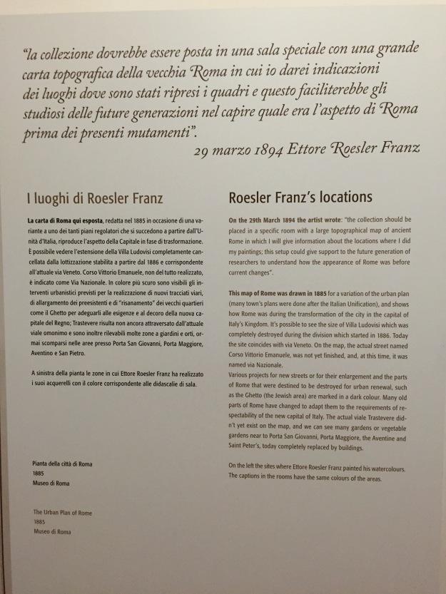 Ettore Roesler Franz. I luoghi di Roma scelti dal famoso acquerellista dell'Ottocento. Museo di Roma in Trastevere. Foto Safarik Art Magazine