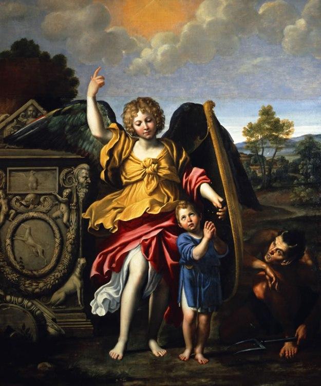 Angelo Custode, Domenico Zampieri detto Domenichino, 1615, olio su tela. Napoli, Museo di Capodimonte.