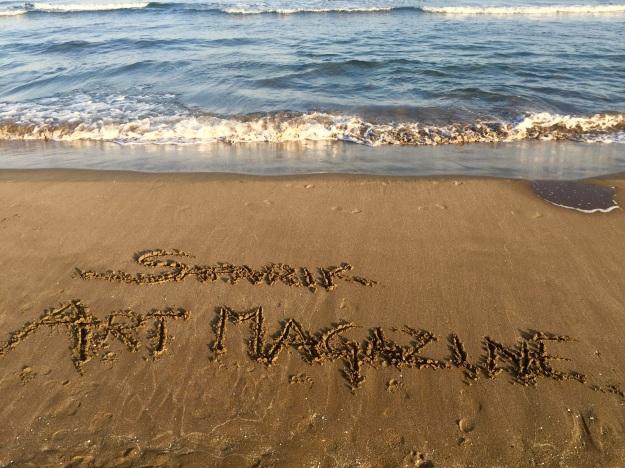 Safarik Art Magazine: Scrivi il tuo nome sulla sabbia e le onde penseranno a portarlo a largo.
