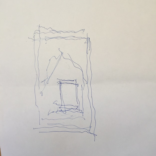 Quadro nel quadro, disegno a penna su carta, di Eduard A Safarik, agosto 2015