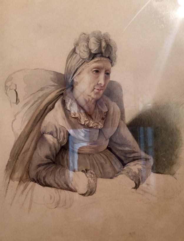 Carlotta Bonaparte (1802-1839), Letizia Ramolino Bonaparte (Napoleonis Mater). Roma, Museo Napoleonico, acquarello su carta 1935