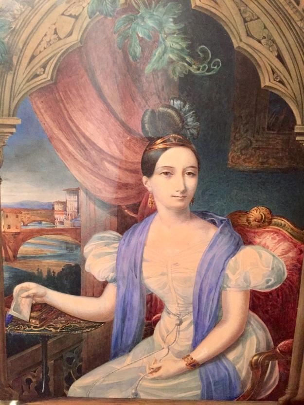 Carlotthe Bonaparte (1802-1839), Autoritratto. Roma, Museo Napoleonico, acquarello su carta 1934