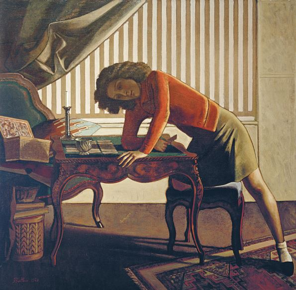 Balthus, La Patience - Il solitario, 1943, olio su tela cm 161,3 x 163,5, The Art Institute of Chicago