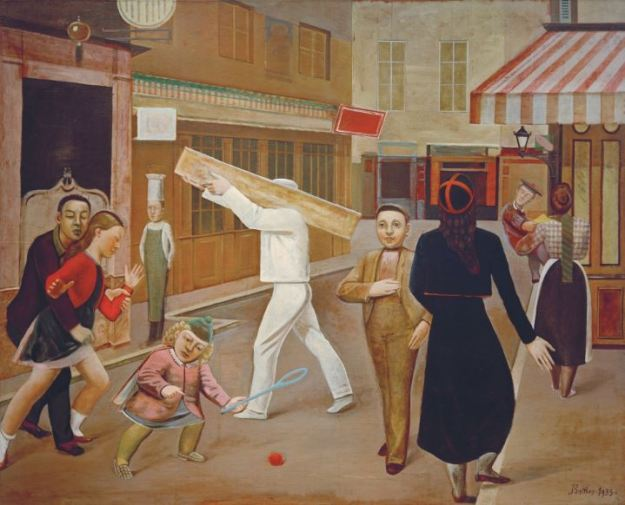 Balthus, La-Rue, 1933, New-York, The Museum of Modern Art