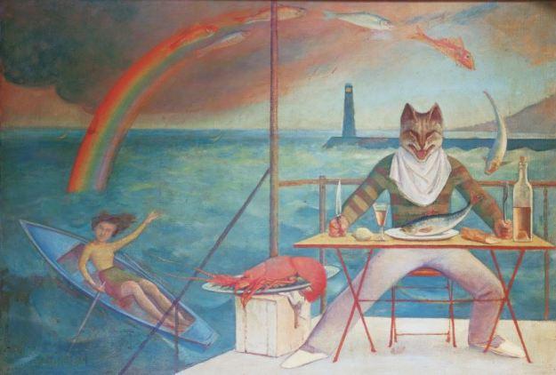 Balthus, Le Chat de la Méditerranée, 1949 - collezione privata