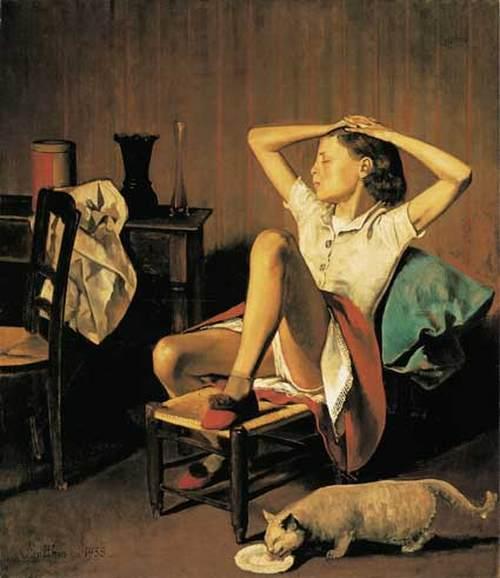 Balthus, La ragazza col gatto