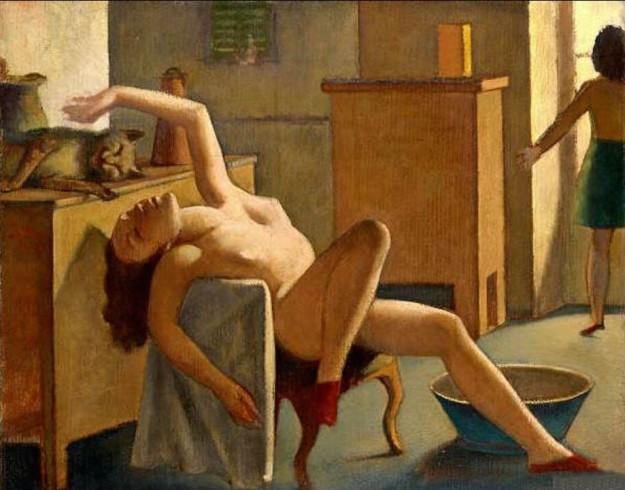 Balthus, Nudo di donna con gatto, 1945