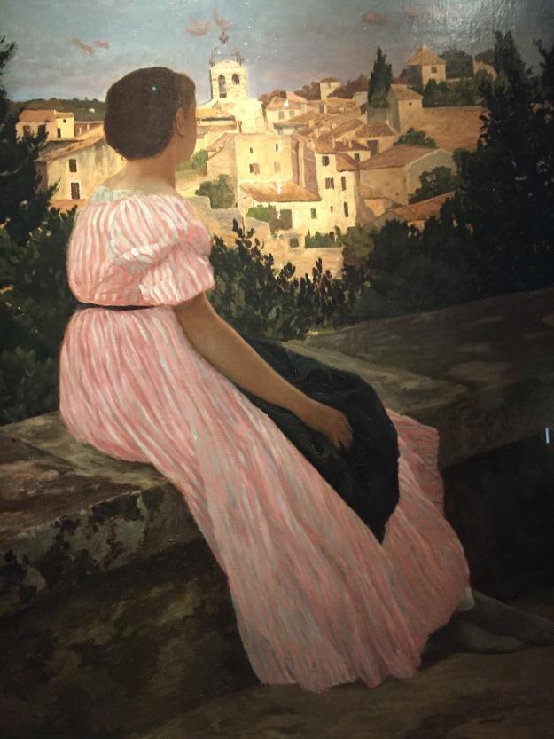 Fédéric Bazille, L'abito rosa, da vicino