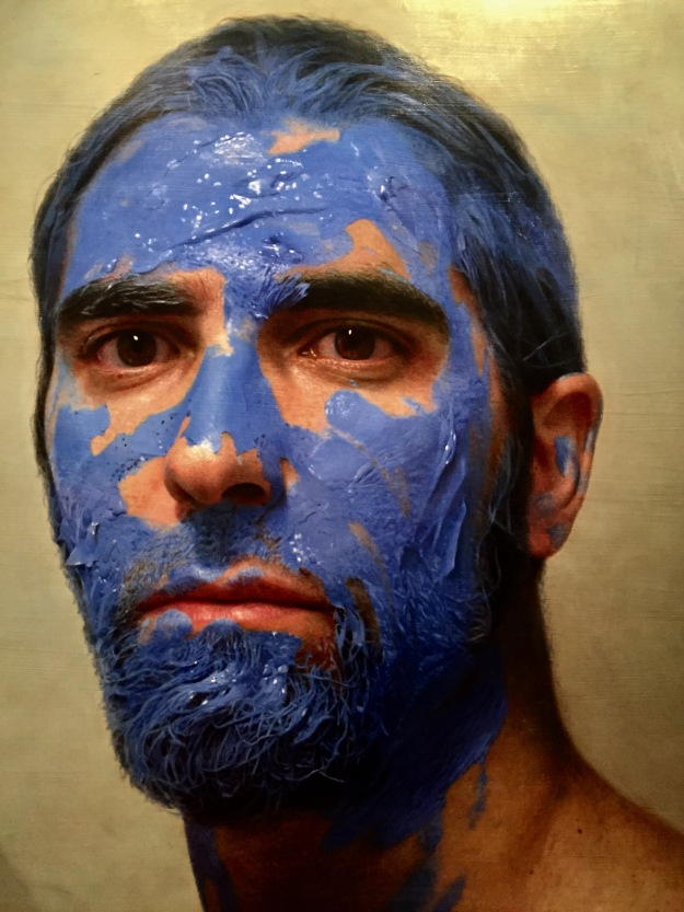 "Eloy Morales Ramiro (Madrid, n. 1973), ""La pintura en mi cabeza"" (2010), olio su tavola, cm. 160x160. Barcellona, MEAM, Museo Europeo d'Arte Moderna. Foto Safarik Art Magazine"