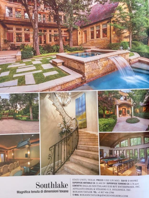 Residenze da favola. Tenuta di Southlake in Texas, dalla rivista GG delle più belle case del mondo, Engel & Volkers.
