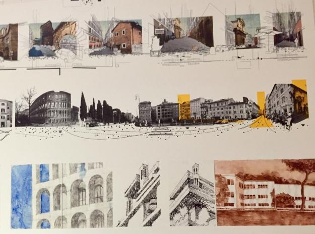 Installazione tecnica nella Facoltà di Architettura de La Sapienza di Roma. Foto Safarik Art Magazine