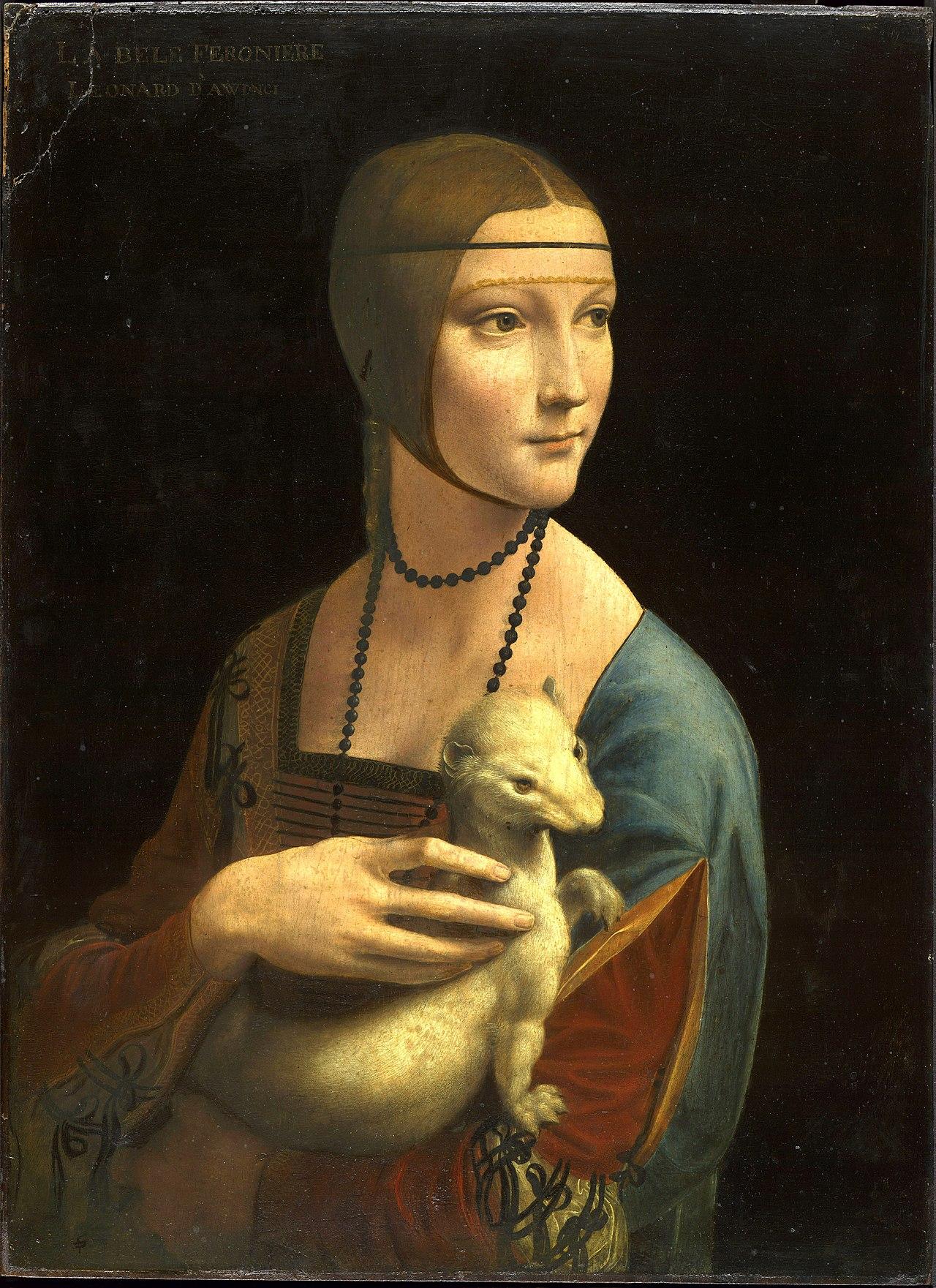10. Dama con l'ermellino – Leonardo da Vinci (1488-90) - Museo Nazionale, Cracovia