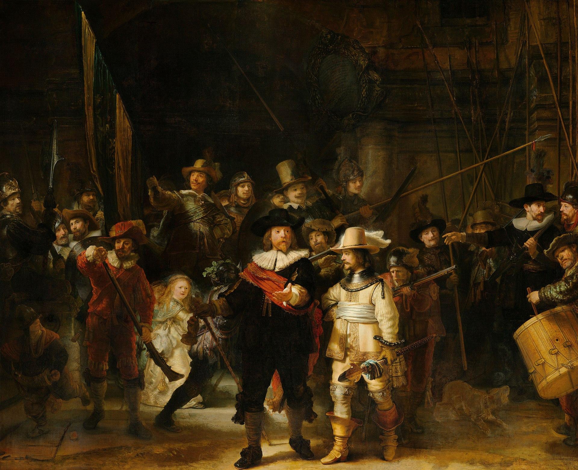 11. Ronda di notte – Rembrandt (1642) - Rijksmuseum di Amsterdam