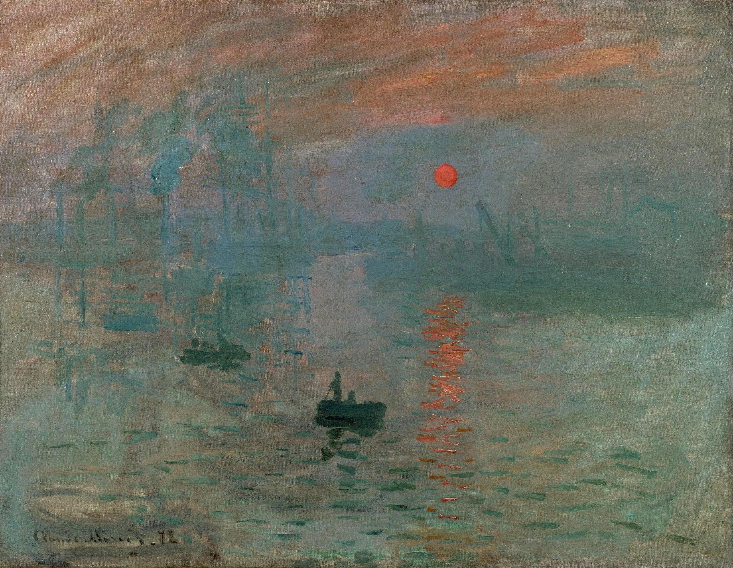 12. Impressione, levar del sole – Claude Monet (1872) - Musée Marmottan Monet, Parigi
