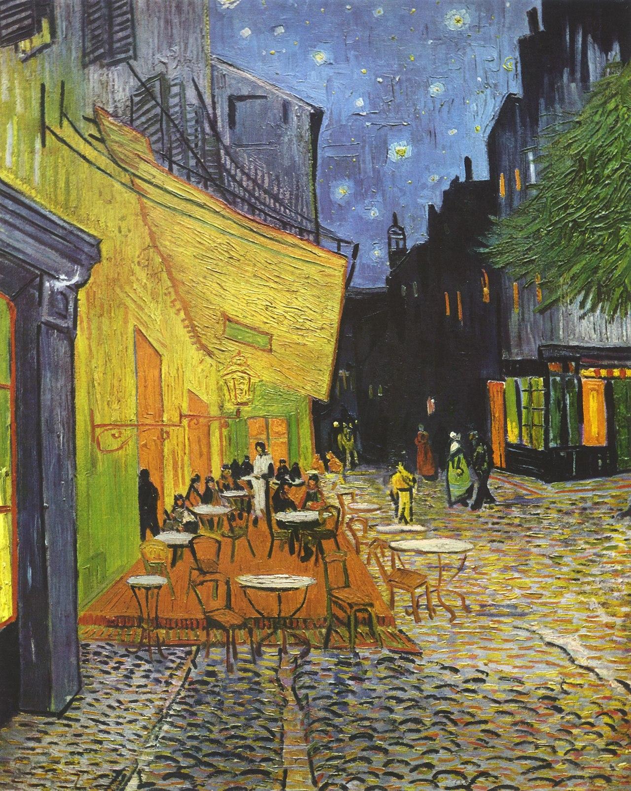 14. Terrazza del caffè la sera, Arles – V. van Gogh (1888) – Museo Kröller-Müller, Otterlo