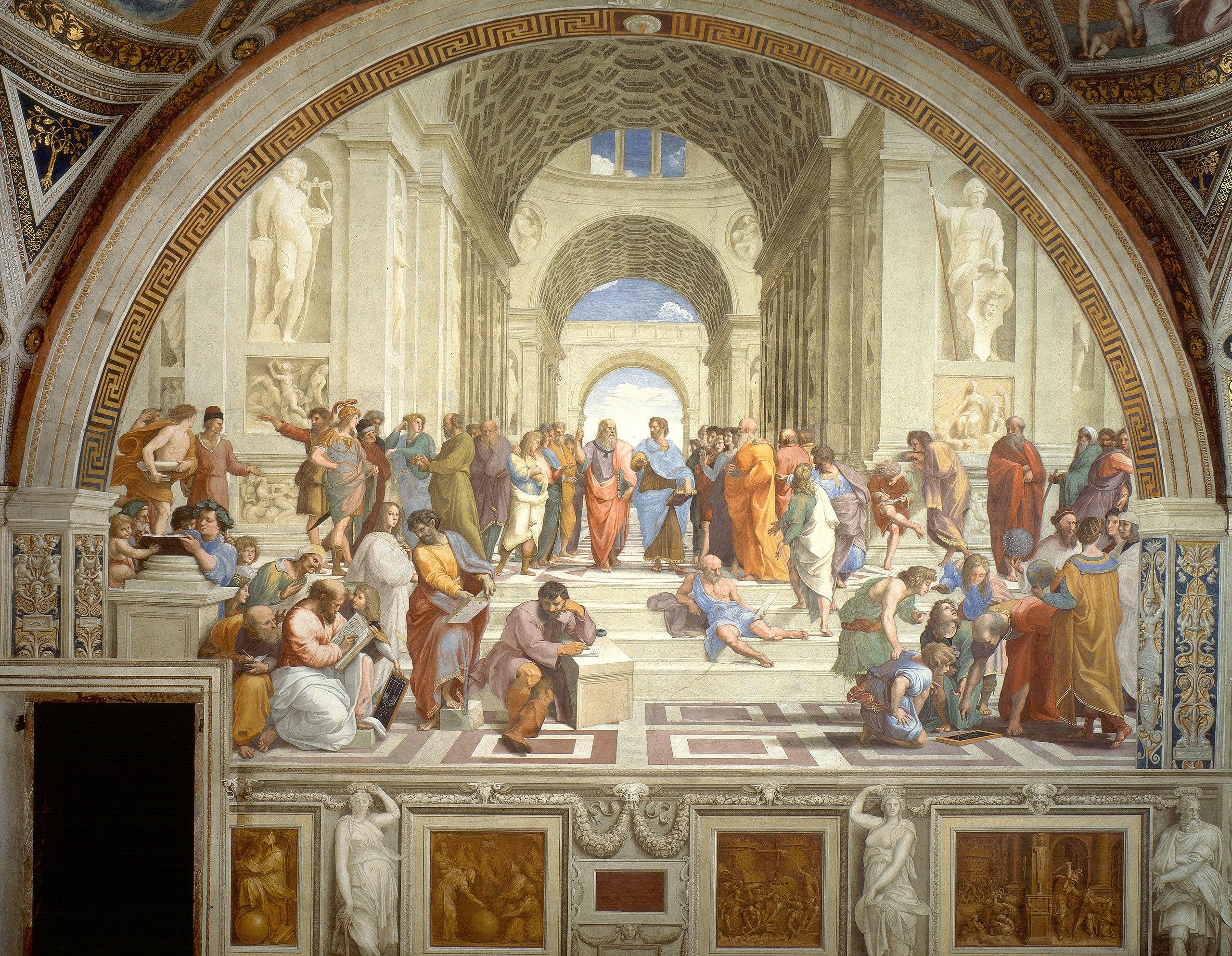 15. Scuola di Atene – Raffaello Sanzio (c. 1509-11) – Musei Vaticani, Roma