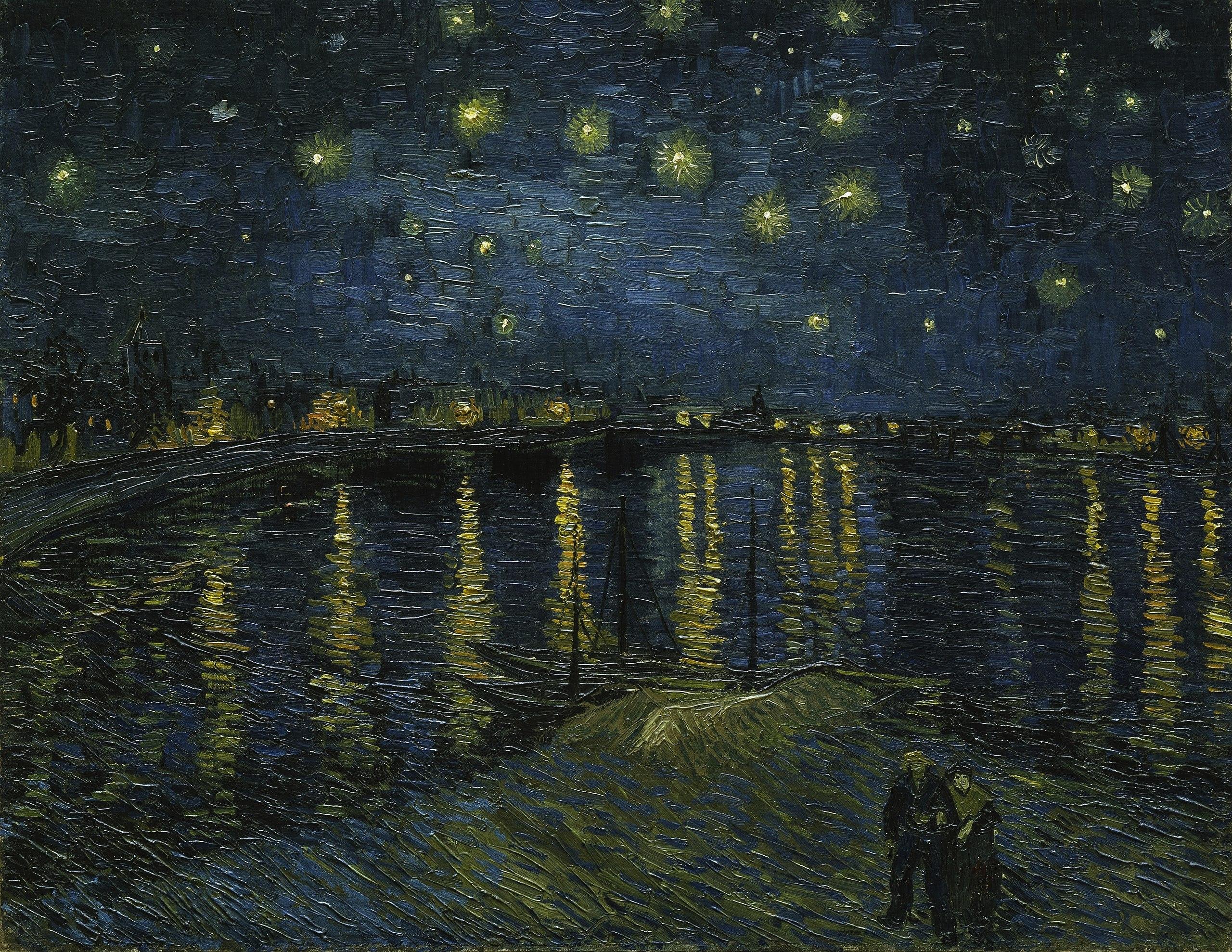 16. Notte stellata sul Rodano - Vincent Van Gogh (1888) - Musée d'Orsay, Parigi