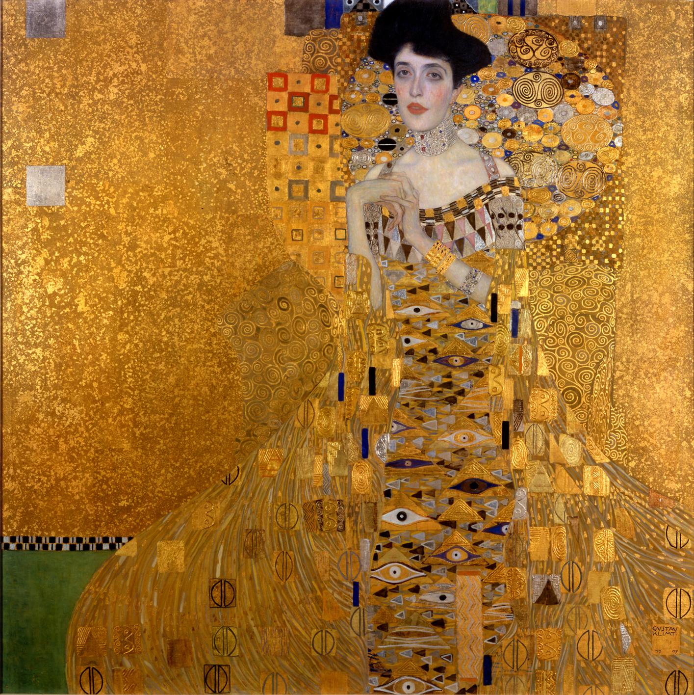 17. Ritratto di Adele Bloch-Bauer I – Gustav Klimt (1907) - Neue Galerie, New York