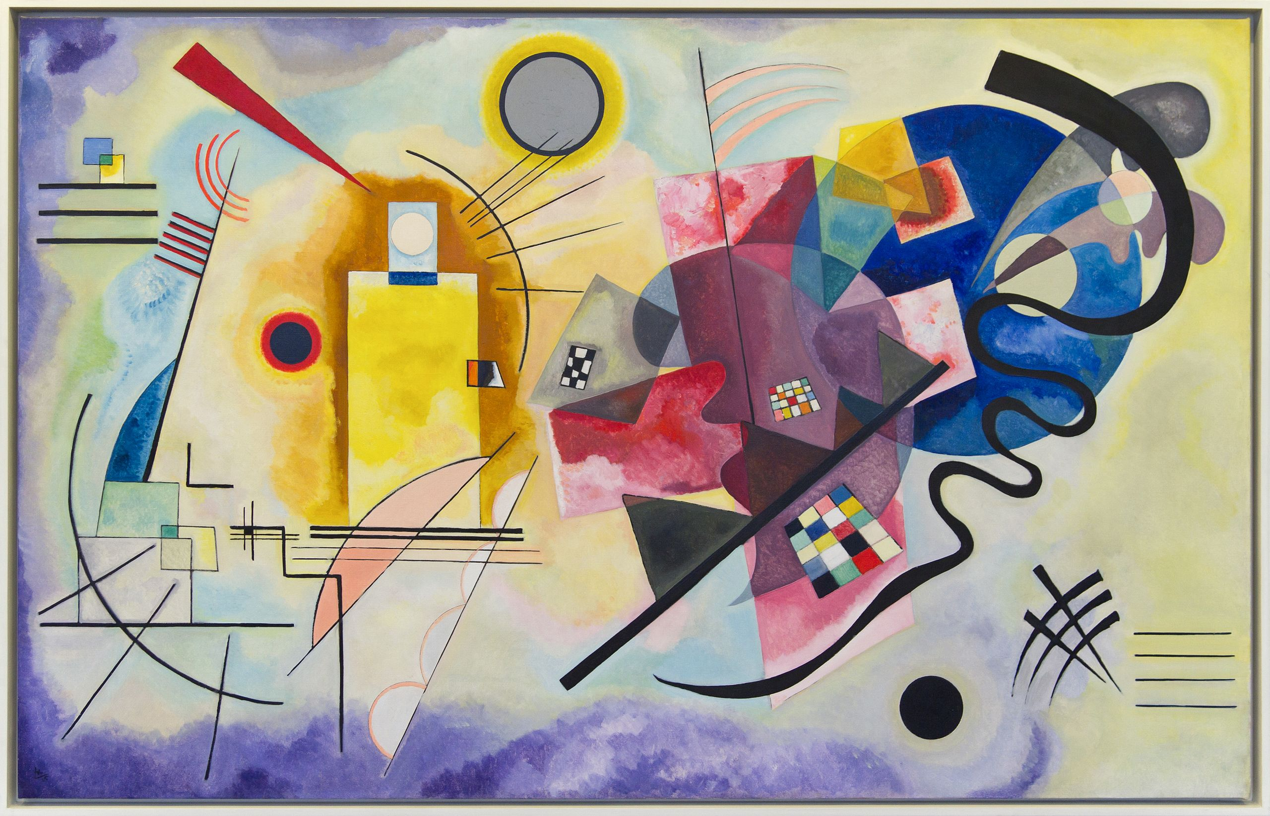 18. Giallo, rosso, blu - Vasilij Kandinskij (1925) - Centre Pompidou, Parigi