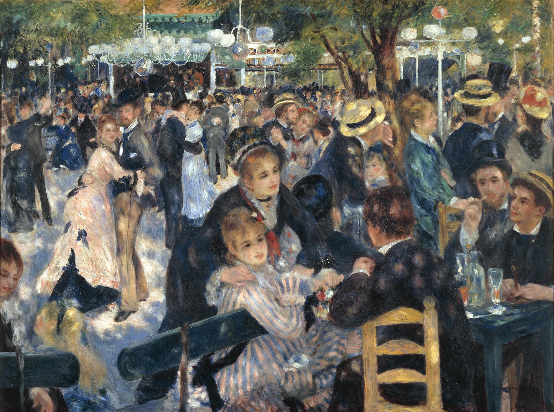 20. Ballo al moulin de la Galette - Pierre-Auguste Renoir (1876) - Musée d'Orsay, Parigi