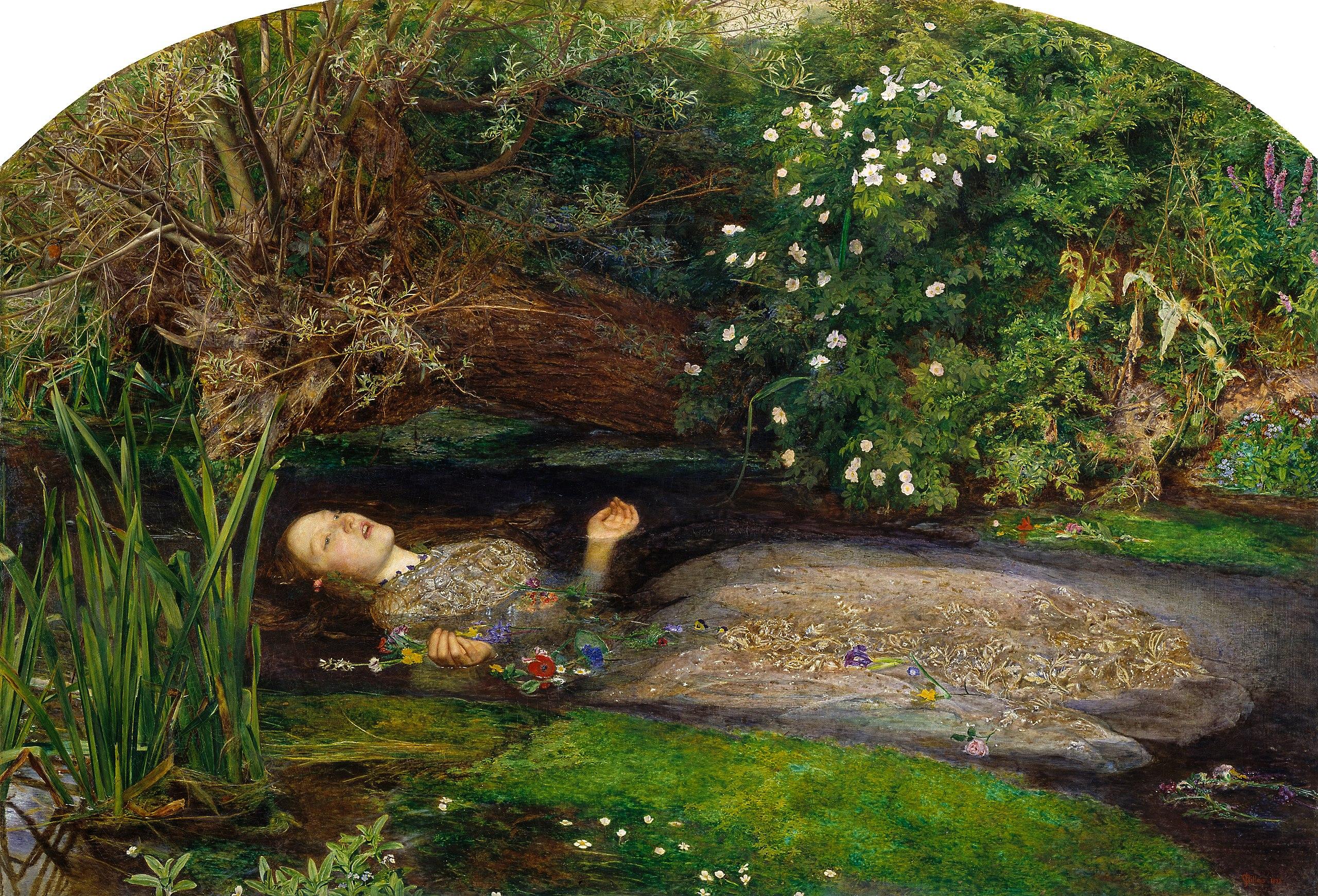 23. Ophelia - John Everett Millais (1851-52) – Tate Gallery, Londra