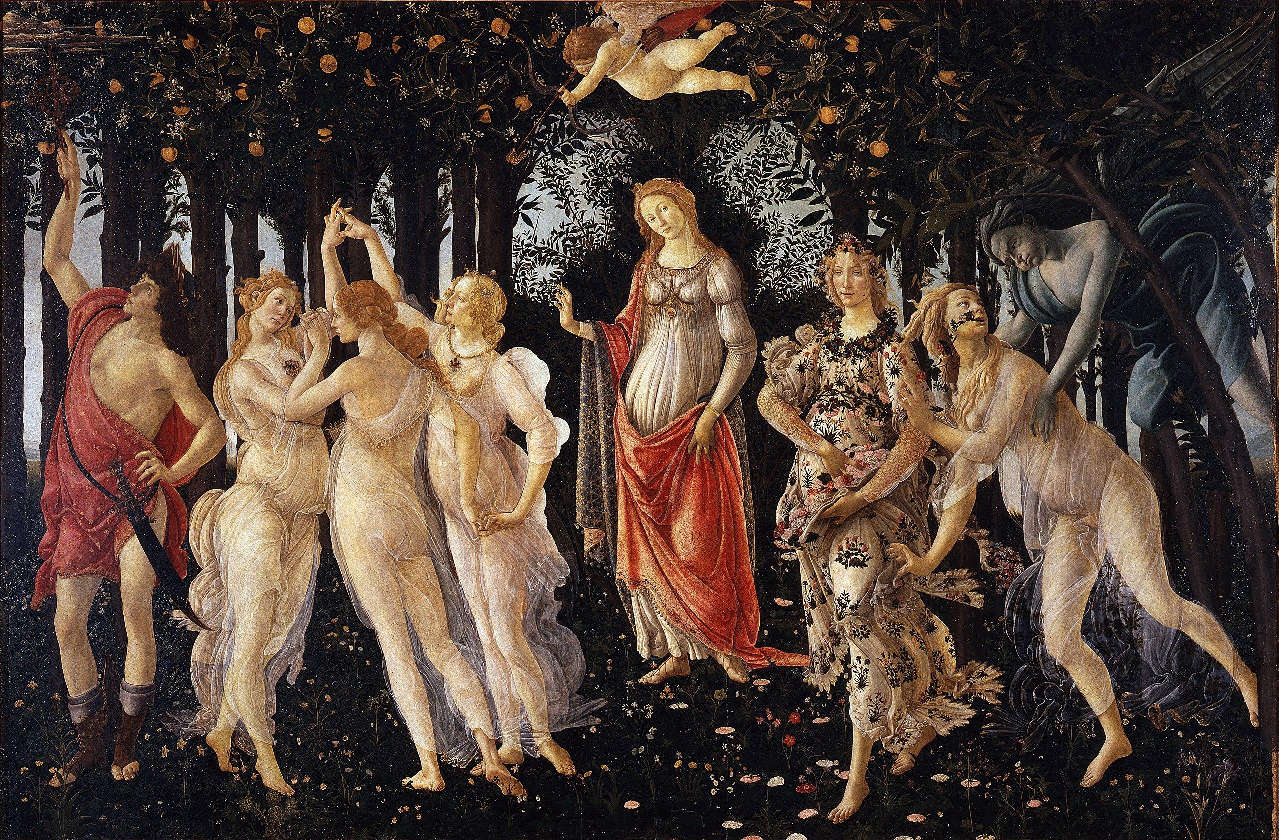 24. Primavera – Sandro Botticelli (c. 1482) – Uffizi, Firenze