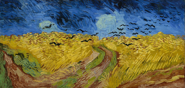 25. Campo di grano con volo di corvi – V. van Gogh (1890) – V.G. Museum, Amsterdam