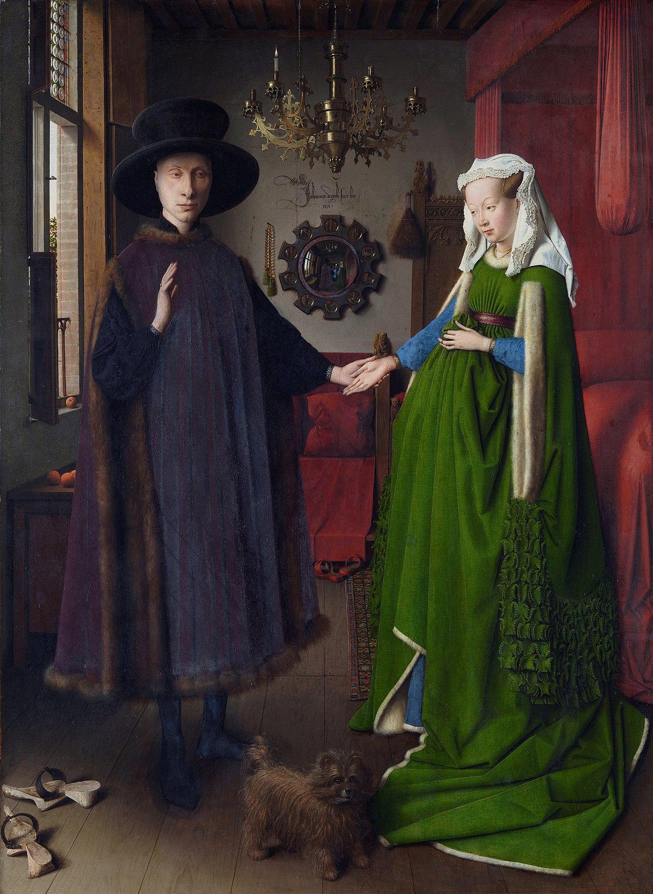 27. Ritratto dei coniugi Arnolfini - Jan van Eyck (1434) – National Gallery, Londra