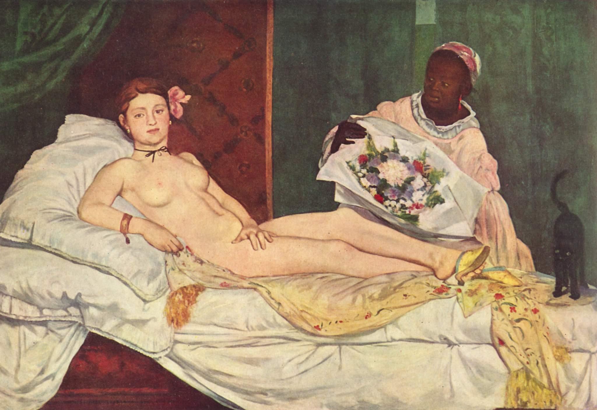 28. Olympia - Édouard Manet (1863) - Musée d'Orsay, Parigi