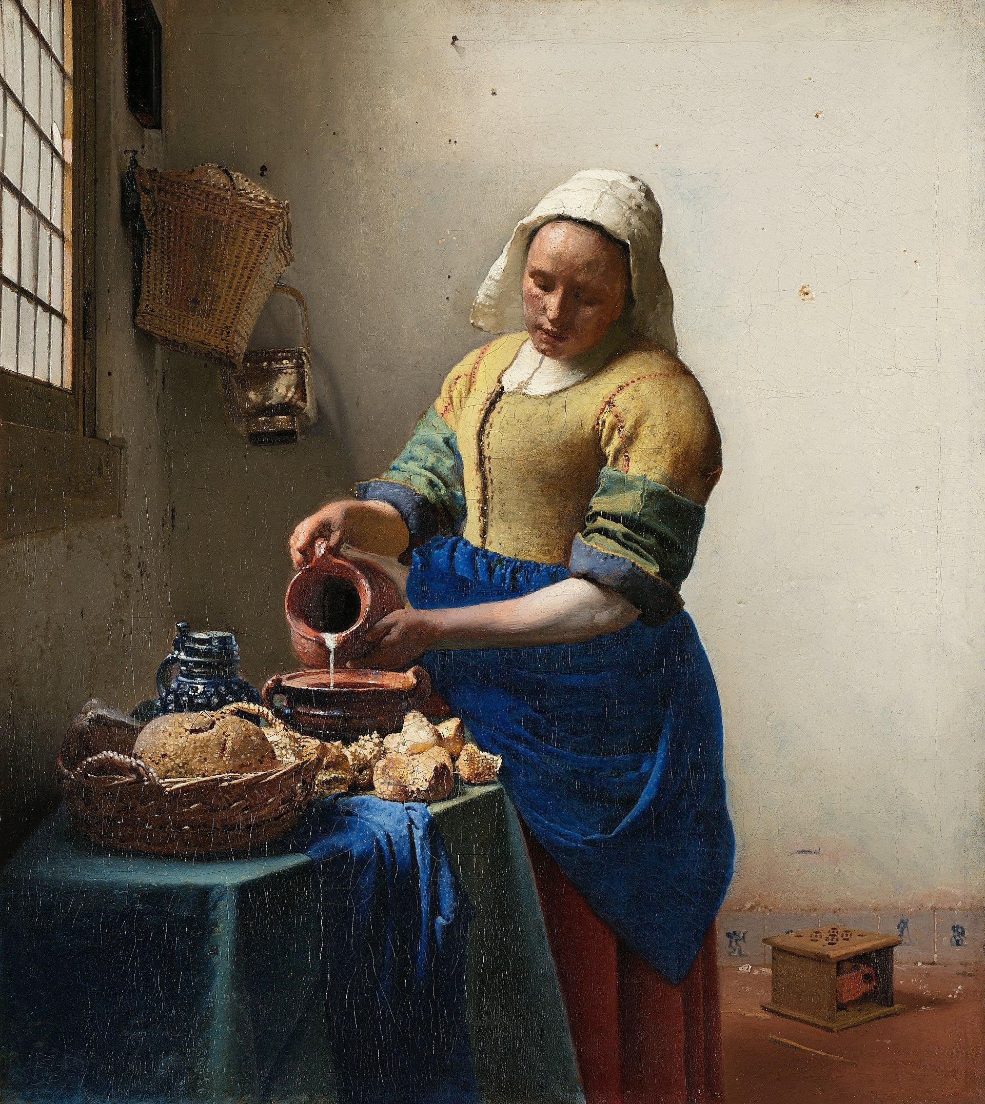 29. La Lattaia - Jan Vermeer (c. 1658-60) – Rijksmuseum, Amsterdam