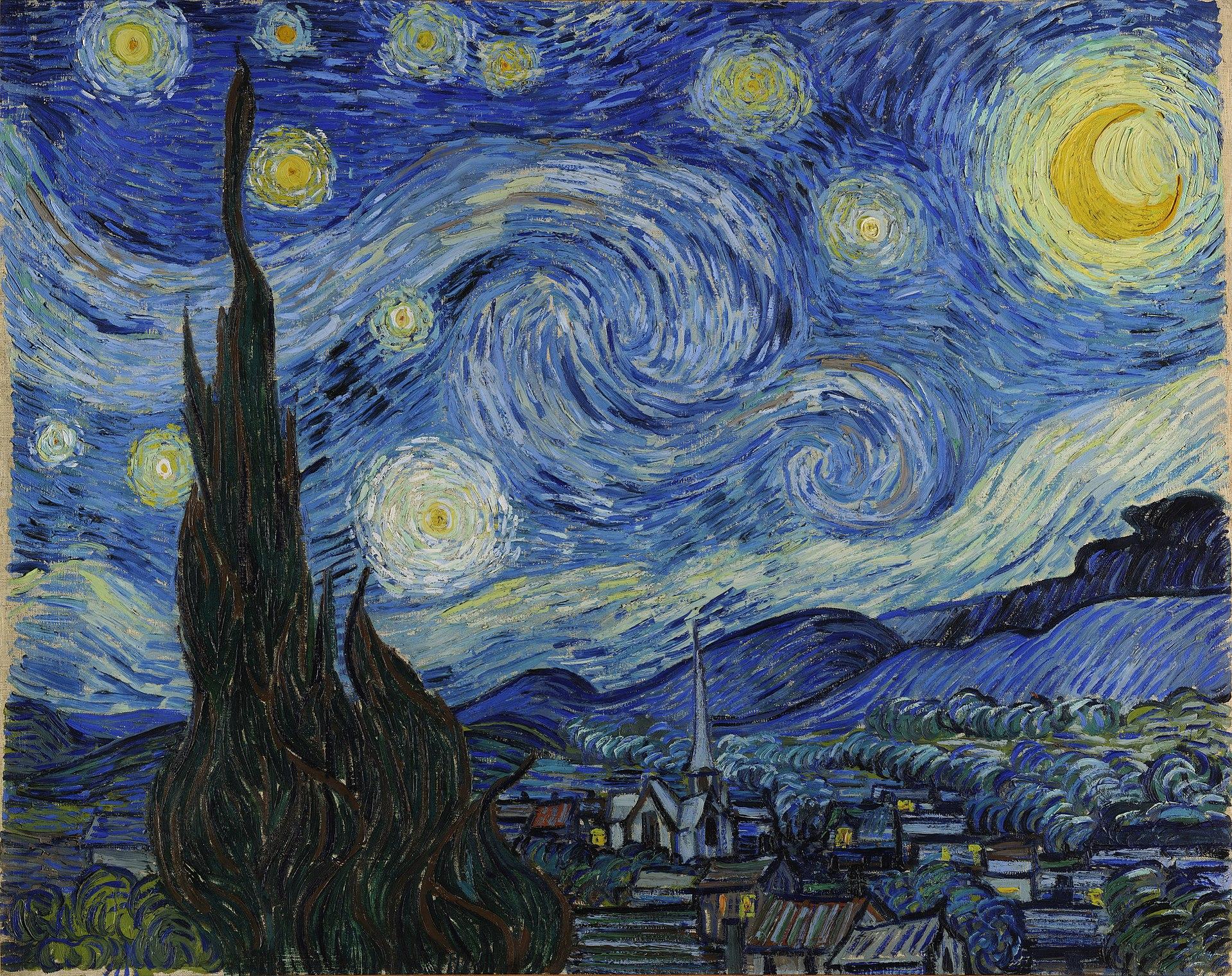 3. Notte stellata – Vincent Van Gogh (1889) – MOMA, New York