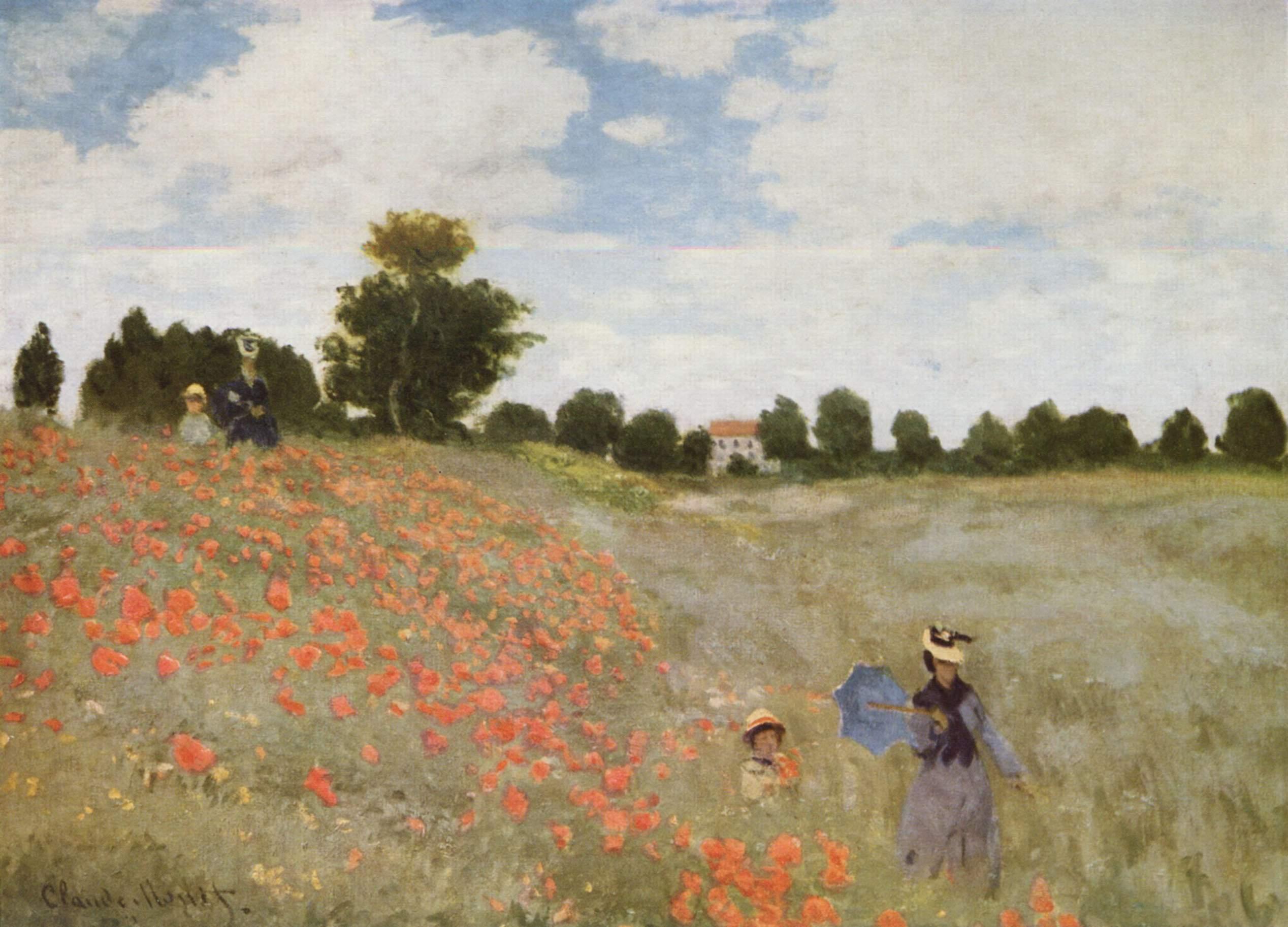 30. I papaveri (Les Coquelicots) - Claude Monet (1873), Musée d'Orsay, Parigi