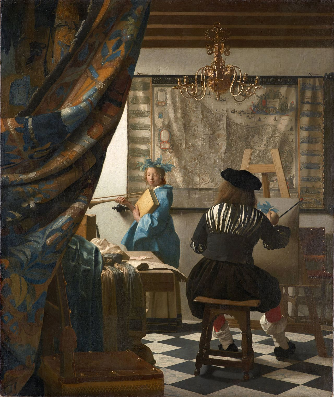 31. L'Allegoria della Pittura - Jan Vermeer (c. 1666) - Kunsthistorisches Museum, Vienna