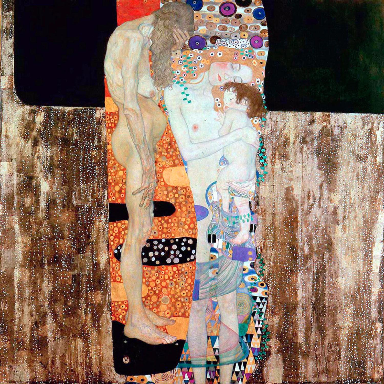 32. Le tre età della donna - Gustav Klimt (1905) - Galleria Nazionale d'Arte Moderna, Roma