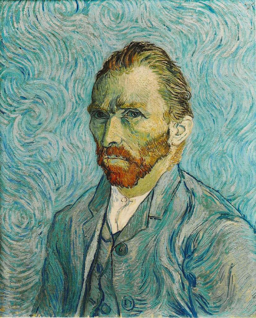 34. Autoritratto – Vincent van Gogh (1889) - Musée d'Orsay, Parigi