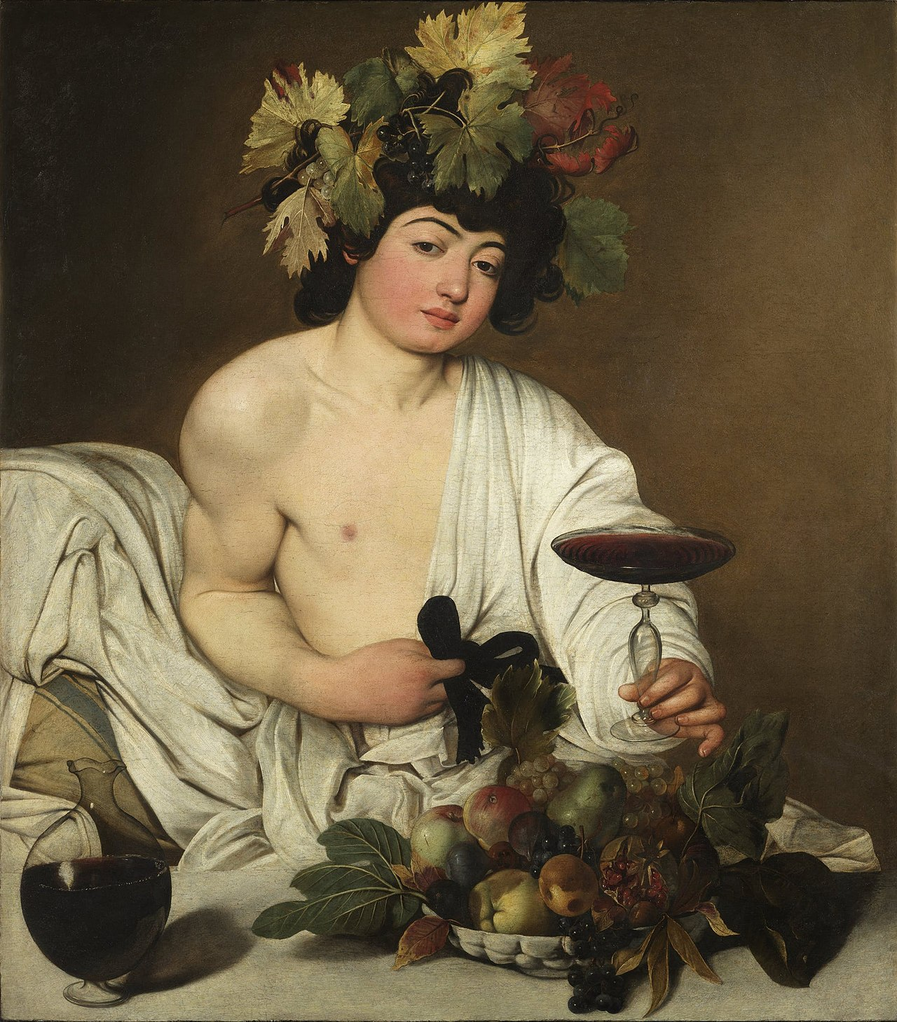 36. Bacco (adolescente) - Caravaggio (c. 1596-98) – Uffizi, Firenze