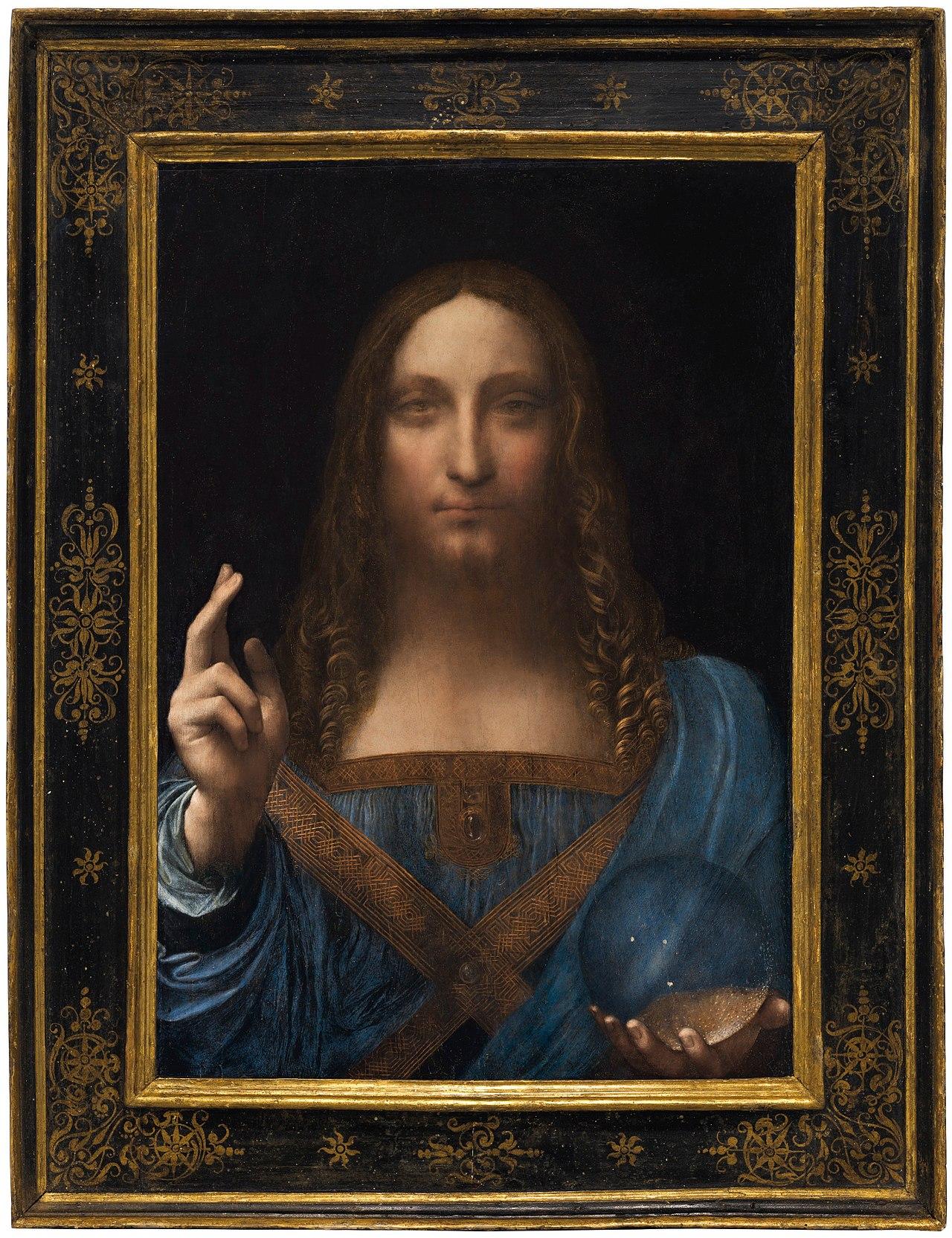 38. Salvàtor mundi - attribuito a Leonardo da Vinci (c. 1499) – coll. privata, Abu Dhabi